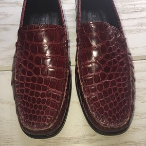 Tod's Alligator D crocodile Loafers flats 36 6